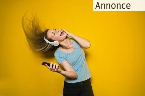 Trådløse hovedtelefoner når du er på farten
